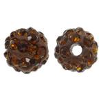 Diamant i rremë balta Beads hapë, Argjilë, Round, asnjë, me diamant i rremë, cirk, 8mm, : 1.5mm, 50PC/Qese,  Qese