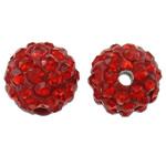 Diamant i rremë balta Beads hapë, Argjilë, Round, asnjë, me diamant i rremë, Zymbyl, 10mm, : 2mm, 50PC/Qese,  Qese