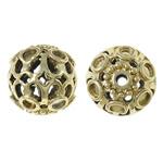 Beads Zink Alloy Vendosja, Alloy zink, Round, ngjyrë ari praruar, i uritur, asnjë, , nikel çojë \x26amp; kadmium falas, 16mm, : 2mm, 20PC/Qese,  Qese