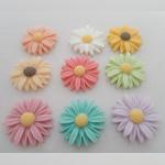 Rrëshirë, Lule, asnjë, asnjë, ngjyra të përziera, 25x25mm, 120PC/Shumë,  Shumë