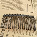 Combs dekorative Flokët, Alloy zink, Krehër, pikturë, asnjë, e zezë, , nikel çojë \x26amp; kadmium falas, 70x38mm, 160PC/Shumë,  Shumë