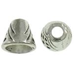 Beads Zink Alloy Vendosja, Alloy zink, Kon, Ngjyra antike argjendi praruar, asnjë, asnjë, , nikel çojë \x26amp; kadmium falas, 10.5x9mm, : 3-8mm, 710PC/KG,  KG