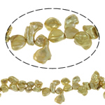 Reborn Beads kulturuar Pearl ujërave të ëmbla, Pearl kulturuar ujërave të ëmbla, i lyer, asnjë, ar, 9-10mm, : 0.8mm, :15.7Inç,  15.7Inç,