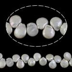 Monedhë Beads ujërave të ëmbla kulturuar Pearl, Pearl kulturuar ujërave të ëmbla, Lot, natyror, asnjë, e bardhë, 14-15mm, : 0.8mm, :16.7Inç,  16.7Inç,