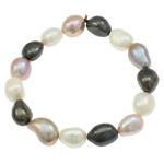 Kulturuar ujërave të ëmbla Pearl byzylyk, Pearl kulturuar ujërave të ëmbla, Patate, natyror, asnjë, asnjë, 11-14mm, :7Inç,  7Inç,