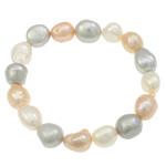 Kulturuar ujërave të ëmbla Pearl byzylyk, Pearl kulturuar ujërave të ëmbla, Patate, i lyer, asnjë, asnjë, 11-14mm, :7Inç,  7Inç,