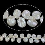 Reborn Beads kulturuar Pearl ujërave të ëmbla, Pearl kulturuar ujërave të ëmbla, natyror, asnjë, e bardhë, 15mm, : 0.8mm, :15.7Inç,  15.7Inç,