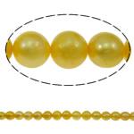 Round Beads kulturuar Pearl ujërave të ëmbla, Pearl kulturuar ujërave të ëmbla, i lyer, asnjë, i verdhë, 10-11mm, : 0.8mm, : 15Inç,  15Inç,