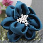 Saten Ribbon, with Plastike Pearl, asnjë, asnjë, safir, 68x68mm, 40PC/Shumë,  Shumë