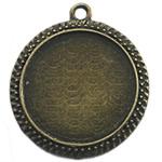 Zink Alloy varëse Setting, Alloy zink, Round Flat, Ngjyra antike bronz i praruar, asnjë, asnjë, , nikel çojë \x26amp; kadmium falas, 31.50x31.50mm, : 2mm, : 25mm, 100PC/Qese,  Qese