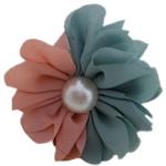 Stick flokët, with Glass Pearl & Alloy zink, Lule, pikturë, dy-ton, asnjë, 70x50mm, 40PC/Shumë,  Shumë