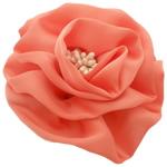 Saten Ribbon, with Plastike Pearl, asnjë, asnjë, kuq pak portokalli, 100x100mm, 24PC/Shumë,  Shumë
