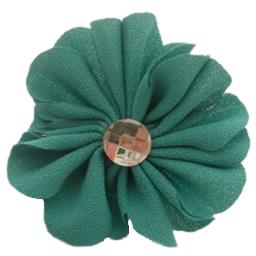 Stick flokët, Leckë, with Alloy zink, Lule, pikturë, me rrëshirë diamant i rremë, e gjelbër, 70x50mm, 70PC/Shumë,  Shumë