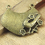 Pendants Heart Zink Alloy, Alloy zink, Zemër, Ngjyra antike bronz i praruar, asnjë, asnjë, , nikel çojë \x26amp; kadmium falas, 33x29mm, : 2mm, 120PC/Qese,  Qese
