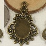 Zink Alloy varëse Setting, Alloy zink, Oval Flat, Ngjyra antike bronz i praruar, asnjë, asnjë, , nikel çojë \x26amp; kadmium falas, 33x21mm, : 2mm, : 10x14mm, 200PC/Qese,  Qese