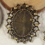 Zink Alloy varëse Setting, Alloy zink, Oval Flat, Ngjyra antike bronz i praruar, asnjë, asnjë, , nikel çojë \x26amp; kadmium falas, 23x19.50mm, : 2mm, : 10x14mm, 250PC/Qese,  Qese