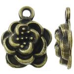 Pendants Zink Alloy Lule, Alloy zink, Ngjyra antike bronz i praruar, asnjë, asnjë, , nikel çojë \x26amp; kadmium falas, 12x15x4mm, : 2mm, 905PC/KG,  KG