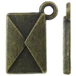 Pendants Zink Alloy Tool, Alloy zink, Shape Tjera, Ngjyra antike bronz i praruar, asnjë, asnjë, , nikel çojë \x26amp; kadmium falas, 11.50x16x2mm, : 2mm, 1420PC/KG,  KG