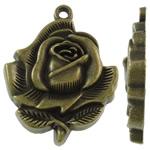 Pendants Zink Alloy Lule, Alloy zink, Ngjyra antike bronz i praruar, asnjë, asnjë, , nikel çojë \x26amp; kadmium falas, 28x34.50x5.50mm, : 2.5mm, 160PC/KG,  KG