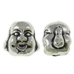 Beads bizhuteri Alloy zink, Buda, Ngjyra antike argjendi praruar, asnjë, asnjë, , nikel çojë \x26amp; kadmium falas, 10x10x8.50mm, : 2mm, 400PC/KG,  KG