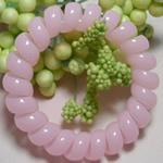Elastike Hair, Plastik, Shape Tjera, elastik, asnjë, rozë, 5mm, 130PC/Shumë,  Shumë