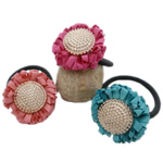 Bisht mbajtës, Saten Ribbon, with Gomë & Plastik, elastik, asnjë, ngjyra të përziera, 40x40mm, 5mm, 50PC/Shumë,  Shumë