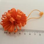 Bisht mbajtës, Saten Ribbon, with Gomë & Plastik, elastik, asnjë, kuq pak portokalli, 100x40mm, 30PC/Shumë,  Shumë