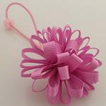 Bisht mbajtës, Saten Ribbon, with Gomë & Plastik, Lule, elastik, asnjë, rozë, 100x40mm, 30PC/Shumë,  Shumë