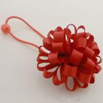 Bisht mbajtës, Saten Ribbon, with Gomë & Plastik, Lule, elastik, asnjë, i kuq, 100x40mm, 30PC/Shumë,  Shumë