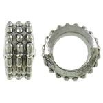 Beads bizhuteri Alloy zink, Rondelle, Ngjyra antike argjendi praruar, asnjë, asnjë, , nikel çojë \x26amp; kadmium falas, 11x5.5mm, : 6.5mm, 760PC/KG,  KG