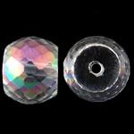 Klasse AA Kristallperlen, Kristall, Trommel, bunte Farbe plattiert, AA grade crystal, 12x9mm, Bohrung:ca. 1.5mm, 10PCs/Tasche, verkauft von Tasche