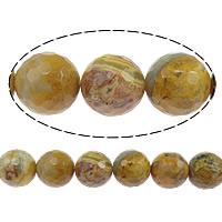 Natürliche verrückte Achat Perlen, Verrückter Achat, rund, facettierte, 12mm, Bohrung:ca. 1.5mm, Länge:ca. 15 ZollInch, 5SträngeStrang/Menge, ca. 32PCs/Strang, verkauft von Menge