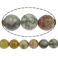 Natürliche verrückte Achat Perlen, Verrückter Achat, rund, facettierte, 8mm, Bohrung:ca. 1mm, Länge:ca. 15 ZollInch, 5SträngeStrang/Menge, ca. 49PCs/Strang, verkauft von Menge