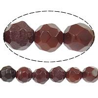 Dotter Stein Perlen, rund, facettierte, 4mm, Bohrung:ca. 0.8mm, Länge:ca. 15 ZollInch, 10SträngeStrang/Menge, ca. 88PCs/Strang, verkauft von Menge