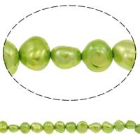 Barock kultivierten Süßwassersee Perlen, Natürliche kultivierte Süßwasserperlen, hellgrün, 4-5mm, Bohrung:ca. 0.8mm, verkauft per ca. 14.7 ZollInch Strang