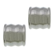 Edelstahl-Perlen mit großem Loch, 304 Edelstahl, großes Loch, originale Farbe, 9x10x10mm, Bohrung:ca. 6mm, 200PCs/Menge, verkauft von Menge