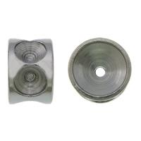 Edelstahl Perlen Einstellung, 304 Edelstahl, Rondell, originale Farbe, 4x6mm, Bohrung:ca. 0.5mm, Innendurchmesser:ca. 2.8mm, 200PCs/Menge, verkauft von Menge