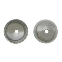 Edelstahl Perle Kappe, 304 Edelstahl, Dom, originale Farbe, 6x2mm, Bohrung:ca. 0.5mm, 2000PCs/Menge, verkauft von Menge