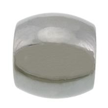 Edelstahl-Perlen mit großem Loch, 304 Edelstahl, oval, großes Loch, originale Farbe, 10x11mm, Bohrung:ca. 6mm, 200PCs/Menge, verkauft von Menge