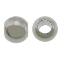 Edelstahl-Perlen mit großem Loch, 304 Edelstahl, Trommel, originale Farbe, 5x6mm, Bohrung:ca. 3mm, 500PCs/Menge, verkauft von Menge