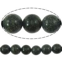 Russische Serpentine Perlen, rund, natürlich, 8mm, Bohrung:ca. 1mm, verkauft per ca. 15.5 ZollInch Strang