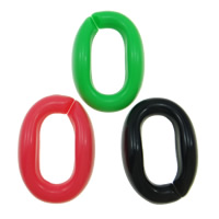 Acryl Verbindungsring, flachoval, gemischte Farben, 23x16mm, 1000PCs/Tasche, verkauft von Tasche