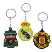 Stainless Steel Key Chain, with Silicone, 2014 Brazil World Cup gift & Customized & different styles for choice, more colors for choice, lead & cadmium free, 38-45x43-50x5mm, 105mm, Hole:Approx 23mm, Sold By PC