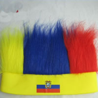 Polyester Sweatband, with Nylon, 2014 Brazil World Cup gift, mixed colors, 56x60mm, 300PCs/Bag, Sold By Bag