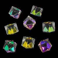 Kubische Kristallperlen, Kristall, Würfel, kein Loch, gemischte Farben, 6x6x6mm, 200PCs/Menge, verkauft von Menge