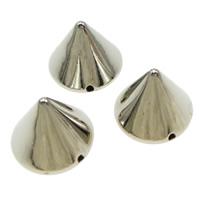 Plattierte Acrylperlen, Acryl, Kegel, Platinfarbe platiniert, 10x8mm, Bohrung:ca. 1mm, 2000PCs/Tasche, verkauft von Tasche