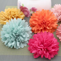 Fashion Decoration Flowers, Chiffon, handmade, mixed colors, 80mm, 100PCs/Bag, Sold By Bag