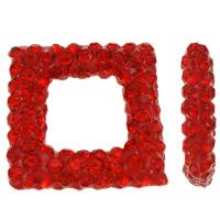 Halb gebohrte Strass Perlen, Ton, Rhombus, halbgebohrt, dunkelrot, 15.50x15.50x4mm, Bohrung:ca. 0.3-0.8mm, 3PCs/Tasche, verkauft von Tasche