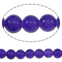 Knistern Glasperlen, Glas, rund, violett, 10mm, Bohrung:ca. 1mm, Länge:ca. 40 ZollInch, 10SträngeStrang/Tasche, verkauft von Tasche