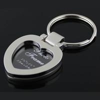 Zinklegierung Schlüsselanhänger, Herz, Platinfarbe platiniert, frei von Nickel, Blei & Kadmium, 36x35x6mm, 15PCs/Menge, verkauft von Menge